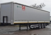 Grunwald curtain side semitrailer with boards